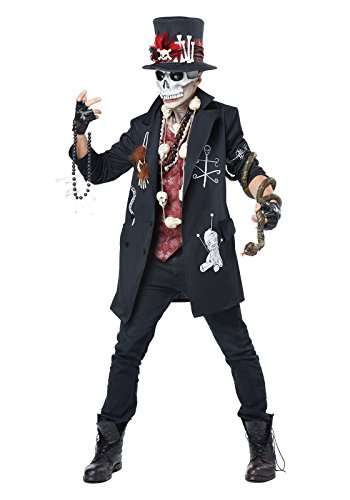 California Costumes Men's Voodoo Dude, Black/Burgundy, Medium -