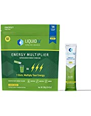 Liquid I.V. Energy Multiplier | Sustained Energy Powder Packets | Matcha and Green Energy Blend Drink Mix | Natural Caffeine | Easy Open Single-Serving Stick | Non-GMO | Lemon Ginger