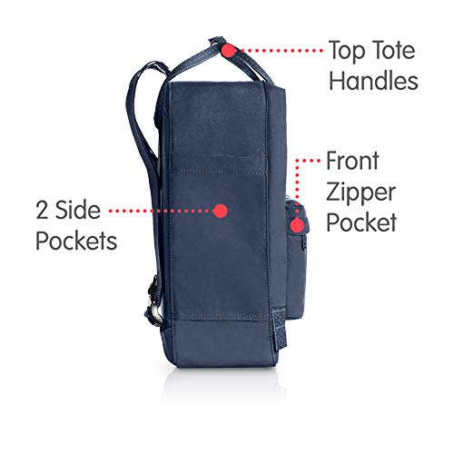 Fjallraven Men's Kanken Backpack, Royal Blue/Pinstripe, One Size by Fjallraven (Image #4)