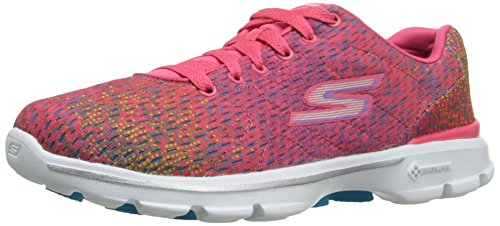 Rendimiento Skechers para mujer Go Walk-3 digitalizar zapato que camina Pink