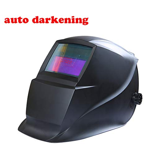 HARVET Welding Helmet Auto Darkening Helmet with 1/1/1/2 Optical Class, Wide Viewing Area for Tig Mig MmaPlasma Welding and Grinding