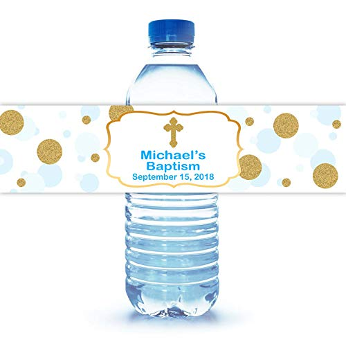 100 Personalized Baptism Water Bottle Labels 8