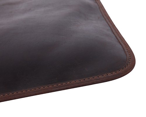 Leather Bag Messenger Crazy Shoulder Men's Retro Laptop Horse Brown Ag6qAT