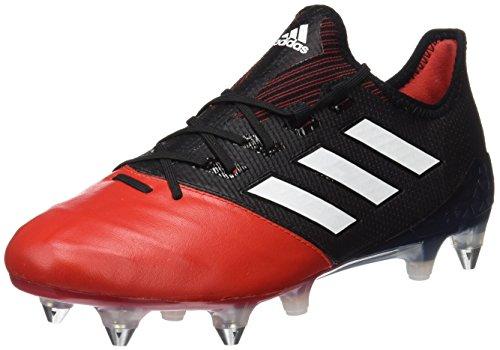 adidas Herren Ace 17.1 Leather SG für Fußballtrainingsschuhe, UK Schwarz (Negbas/ftwbla/rojo)