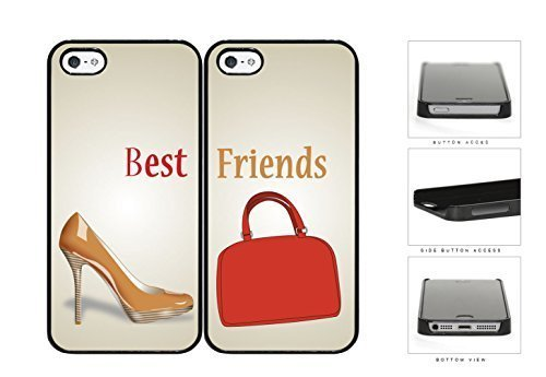 Price comparison product image Nude Heels Red Purse Best Friends Set Hard Plastic Snap On Cell Phone Case Apple iPhone 5 5s by icecream design