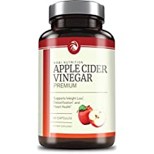 Nobi Nutrition's Apple Cider Vinegar Pills 350mg - All Natural Weight Loss, Detox, Digestion & Circulation Support - Non-GMO Cider 60 Capsules