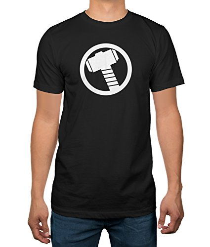 Marvel Universe Captain America Shield T-Shirt (X-Large, Thor)