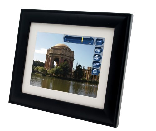 Pandigital Pan Touch PAN8002W02T 8-Inch Digital Picture Frame (Black)