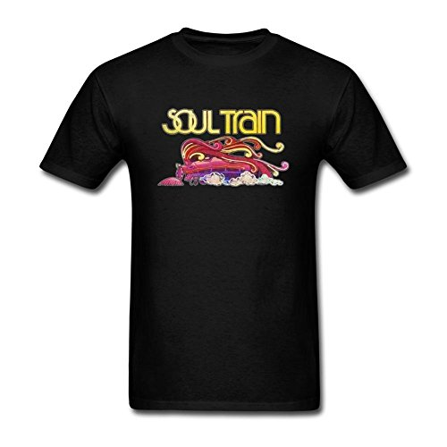 ISTN Men's Soul Train Cotton DIY T Shirt (Large,White,Large,white) ()