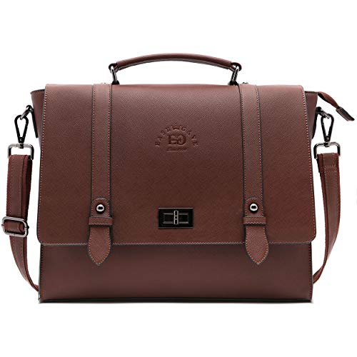 17 Inch Briefcase for Women,Multi-Pocket Work Bag Spacious Office Computer Bags Laptop Messenger Bag for Work Business Travel,coffee-17Inch