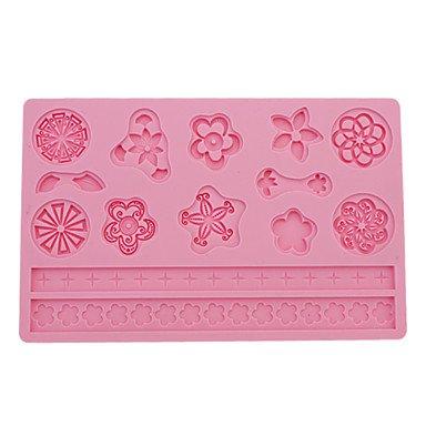 Fortunately DIY Baking Lace Style Fondant Cake Embossing Mould (Random Color) with elegant design