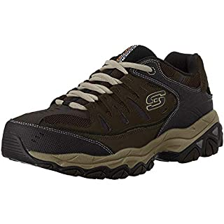 Skechers mens M.fit fashion sneakers, Brown/Taupe, 7.5 US