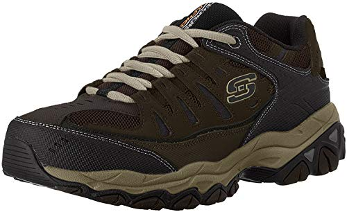 Skechers Men's AFTER BURN M.FIT Memory Foam Lace-Up Sneaker, Brown/Taupe, 11 4E US