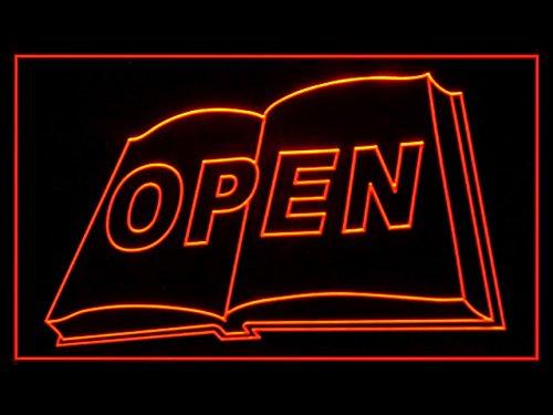 Book Bookstore Bookshop Open Led Light Sign