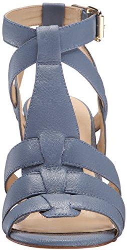 Nine West de piel Farfalla Mujer Sandalias de cuña Azul medio