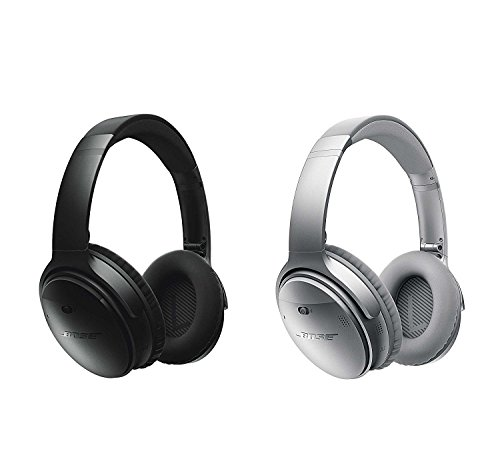 Price comparison product image Bose QuietComfort 35 Wireless Headphones,  Noise Cancelling - Black & Silver Bundle