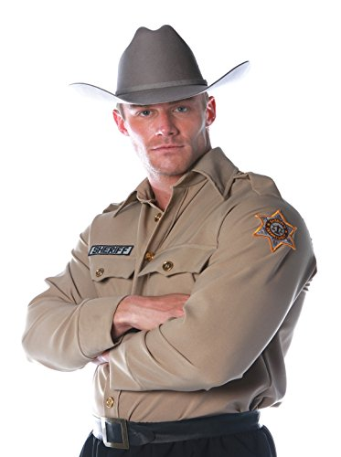 Underwraps Costumes Men's Sheriff Costume - Shirt, Tan, - Shirt Costume Sheriff