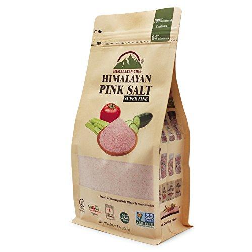 Himalayan Chef Himalayan Pink Salt-Extra-Fine (Stand Up Bag w/ Window), 0.5 lb (227 g)