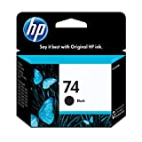 HP 74 Black Ink Cartridge (CB335WN) for HP Deskjet D4260 HP Officejet J5788 J6480 HP Photosmart C4342 C4344 C4382 C4384 C4435 C4440 C4524 C4540 C4550 C5540 C5550