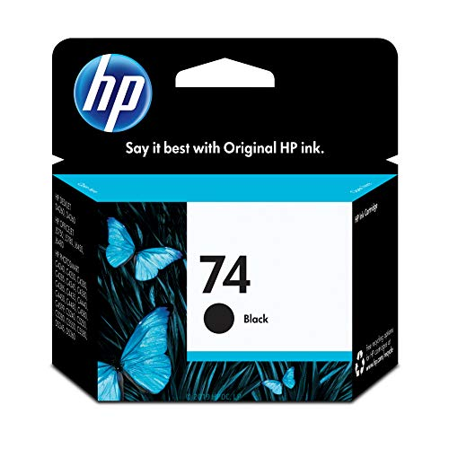 HP 74 | Ink Cartridge | Black | CB335WN | DISCONTINUED BY MANUFACTURER (Hp 75 Black Ink)