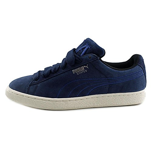 Puma States X Vashtie Mens Blue Leather Lace Up Sneakers Shoes 7.5 v4gbdk