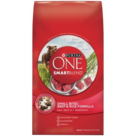 Purina ONE SmartBlend Small Bites Beef & Rice Formula Adult Premium...