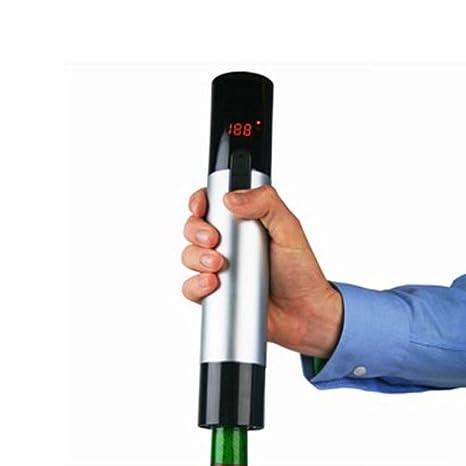 Captelec - Sacacorchos eléctrico recargable (pantalla digital con termómetro para el vino y cortacápsulas): Amazon.es: Hogar