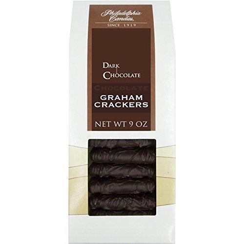 Philadelphia Candies Chocolate Graham Crackers, Dark Chocolate Covered 9 Ounce Gift Bag