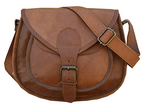 Maison De Cuir handmade cross body leather bag hand bag gypsy bag shouldeer bag brown - Maison Brown