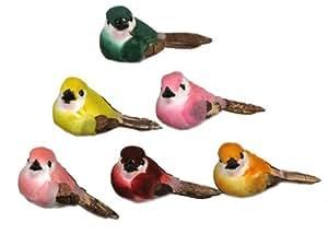 artificial bird fake craft floral birds 12 pc