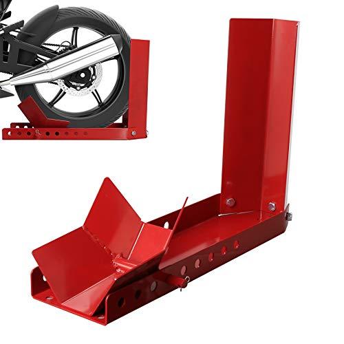 Hengda Motorradständer vorn Motorrad Montageständer Transportständer Schützt vor Rost, Motorradwippe für alle gängigen Vorderräder, Rot