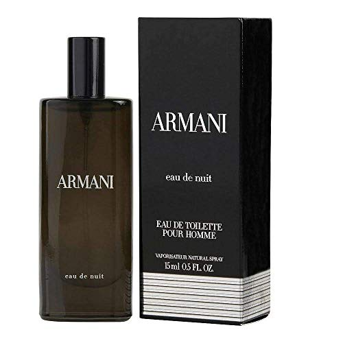 Armani Eau De Nuit by Giorgio Armani Mini EDT Spray .5 oz - Mini Armani Perfume