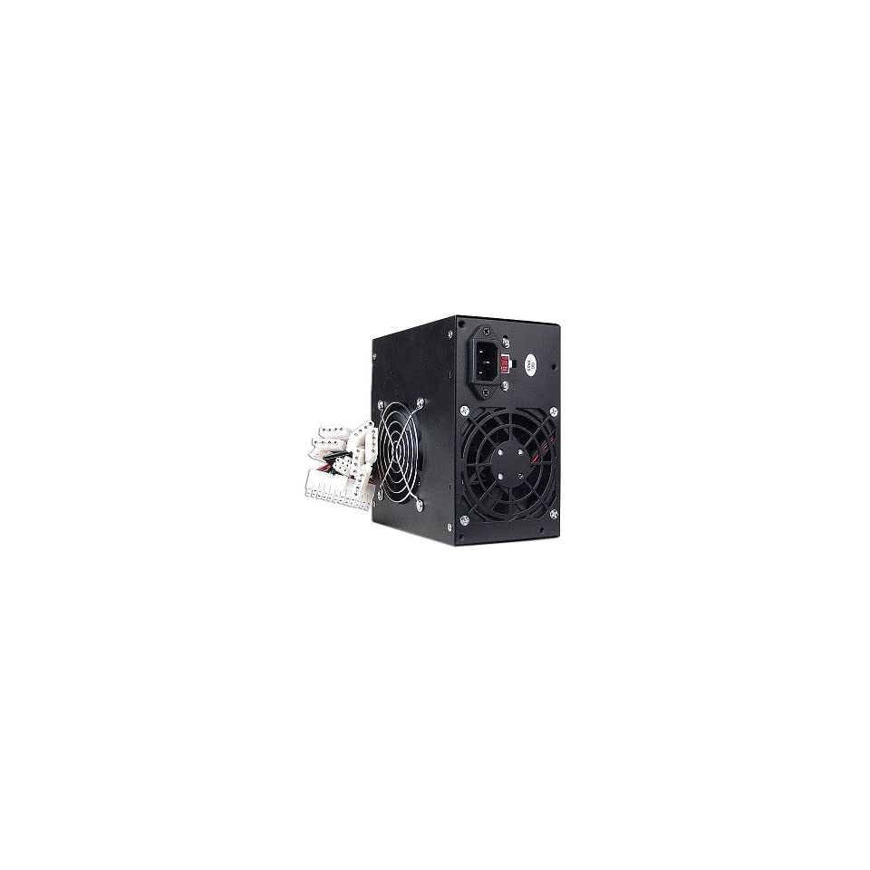 480W 20+4 pin ATX Dual Fan PSU with SATA (Black)