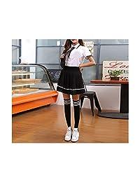 MRxcff-Junior Girls Uniforms Summer Women Students Suit Skirt Japanese Cute Female Cotton Sets Korean Girls School Uniform