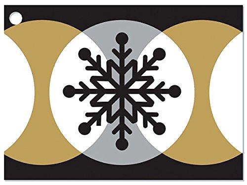 [해외]골든 눈송이 기프트 카드 (6 팩) 3 ~ 3 × 4 \\ / Golden Snowflakes Gift Cards (6 Pack ) 3-34x2-34