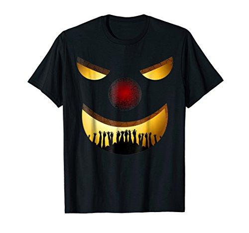 Creepy Clown Halloween TShirt Horror Funny Costume Gift Idea -