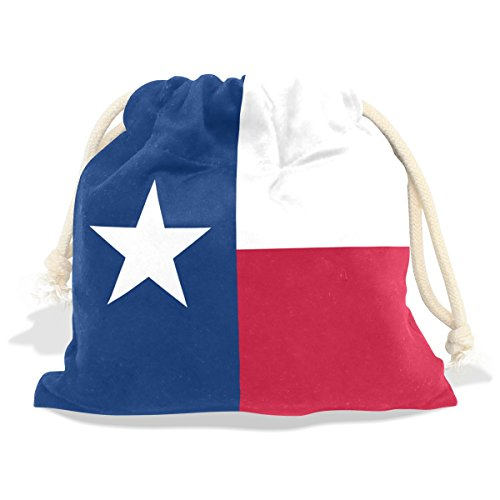 Texas State Flag Velvet Drawstring Gift Bag Wrap Present Pouches Favor for Jewelry, Coin, Holiday, Birthday, Party, 8X12.6 - Case Folding Sunglasses Velvet