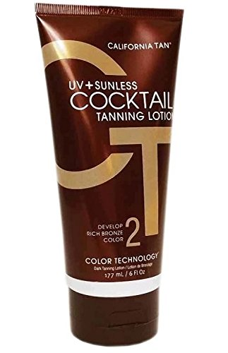 Tanning Cocktail - California Tan UV+ Sunless Cocktail Tanning Lotion, 6 Ounce