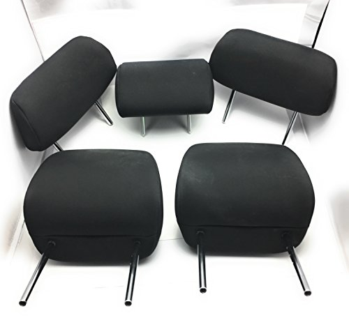 2009-2012 TOYOTA COROLLA OEM Head Rest Headrest Full Set of 5 Front/Rear (Black)