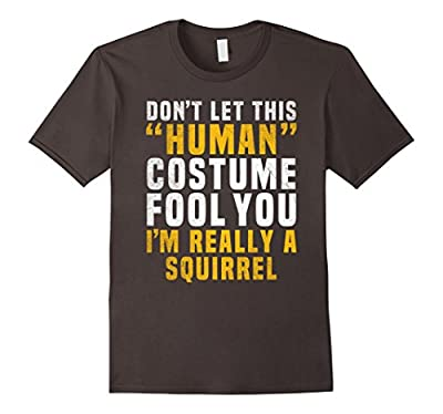 Squirrel Funny Halloween Shirt Costume Easy for Kids Adults