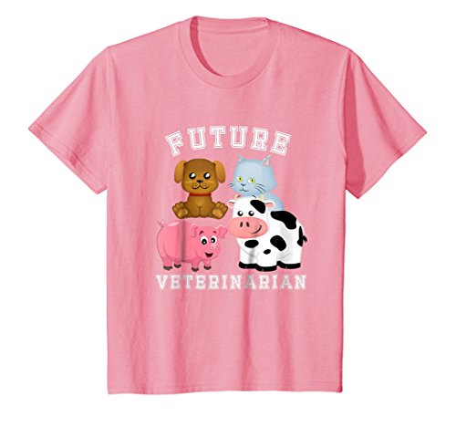 Kids Future Veterinarian Costume T-Shirt for Adults and Kids 12 Pink -