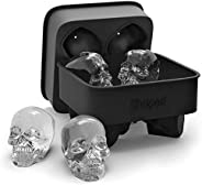 3D Skull Ice Mold Tray, Super Flexible High Grade Silicone Ice Cube Molds for Whiskey, Cocktails, Beverages, I