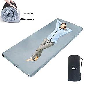 Portable Sleeping Pad Memory Foam Camping Mattress 72x24x2.36in 75x35x2.76in 75x38x2.76in for Camping Pad,Sleepovers…
