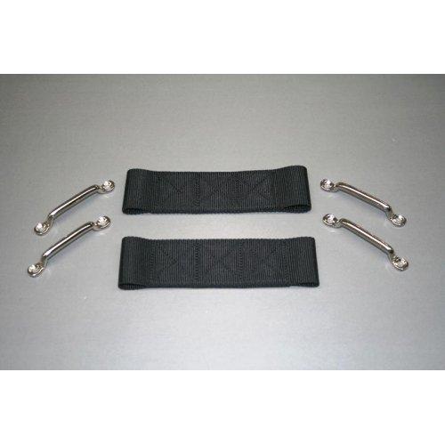 Safari Straps 100-3800BLK 2''Wx7''L Door Strap Kit Black ( 1 pair) by Safari Straps