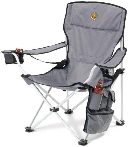 Grand Canyon VIP - faltbarer Campingstuhl, Aluminium, grau/schwarz, 308018