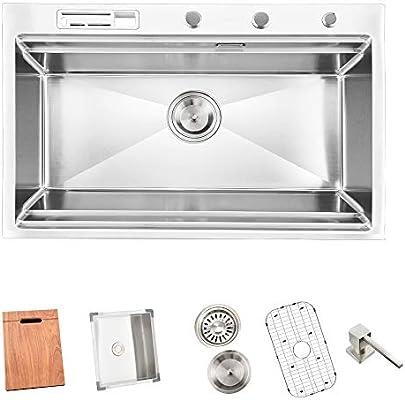 Amazon.com: Vesla Home VE7847B-TK-1 - Fregadero de cocina ...