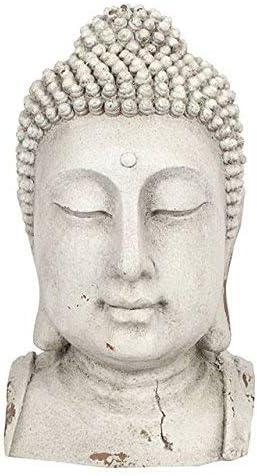 Spirit of Equinox Grande surdimensionné Tête de Bouddha Statue pour jardin ou intérieur – Blanc 51.5 cm: Amazon.es: Jardín