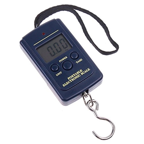 Electronic Mini Digital Scale Portable Spring Hanging with LCD Display for Kitchen / Luggage / Fishing, 88lb/0.02lb Postal Balance Weight