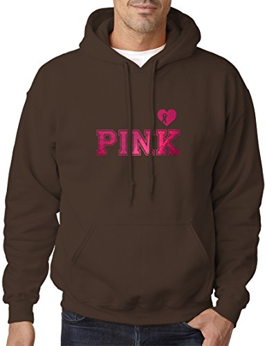 - BBT Adult Metallic Foil PINK Breast Cancer Awareness Hoodie XL Dark Chocolate