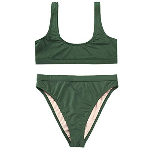 Halloween Criss Cross Puzzles (LIM&SHOP Elegant Vintage High Waisted Bikini Ruched Swimsuit Halter Swimwear Cross Criss Triangle Bikini Bathing Suit)